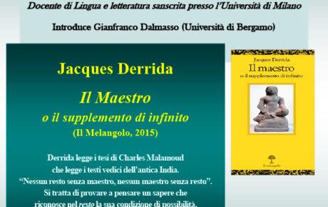 J. Derrida – Il maestro o il supplemento di infinito